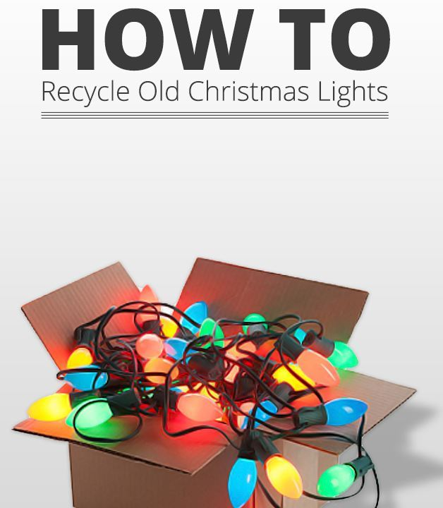 How to Recycle Christmas lights