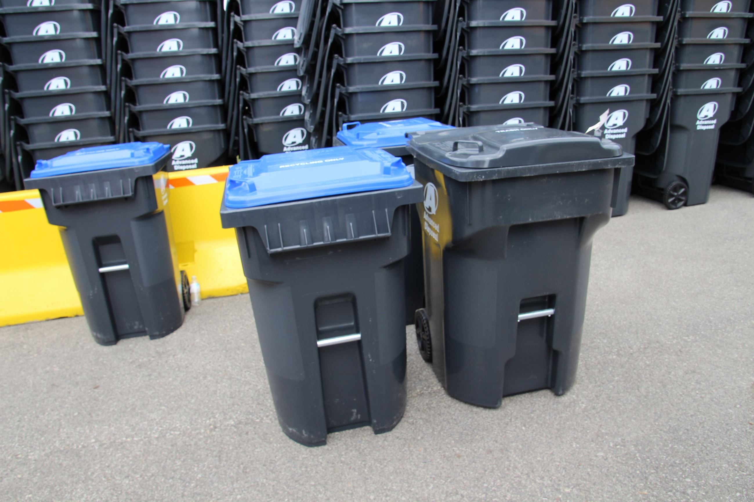 Trash and Recycable  Bins