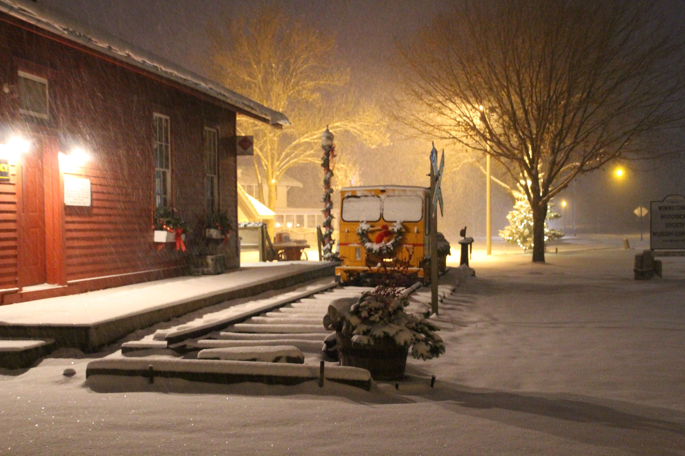 Railroad Deport in snow 2016