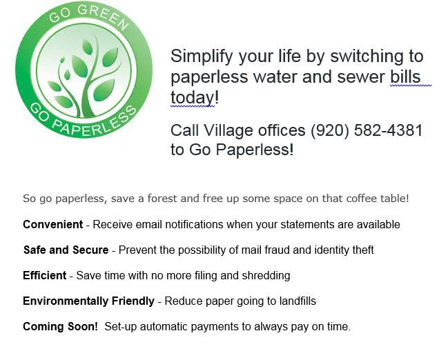 go green with paperless bills