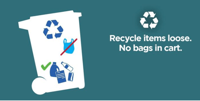 no bags in recycling totes