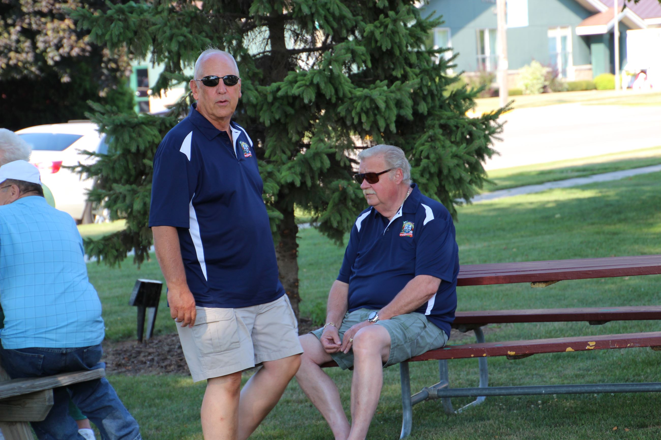 President John Rogers and trustee Fischer at brat fry 2015