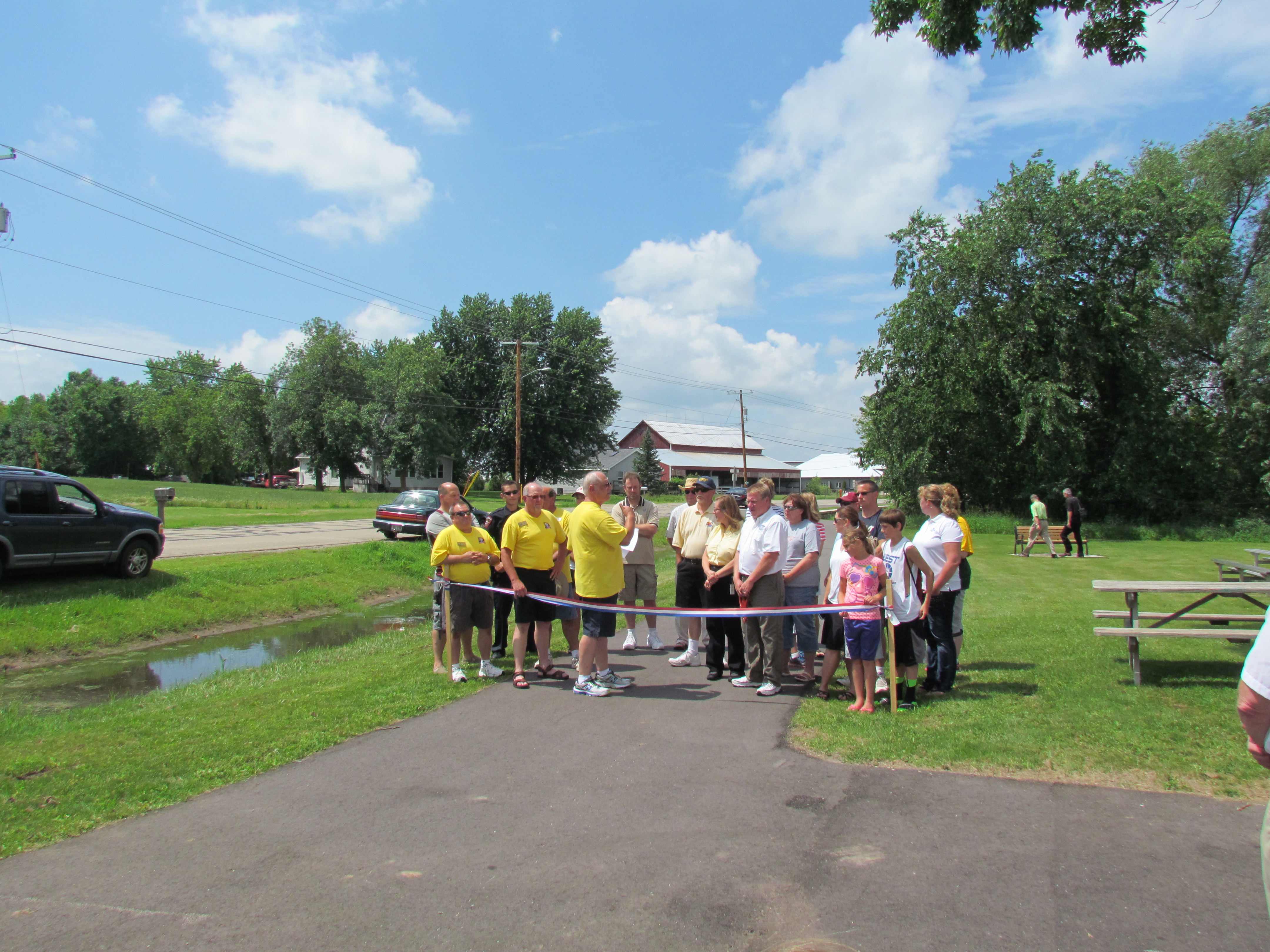 Ribboning Cutting for the Grants Street Trail Ceremony 2014